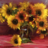 RED SUNFLOWERS